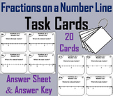 3rd 4th 5th Grade Fractions on a Number Line Task Cards