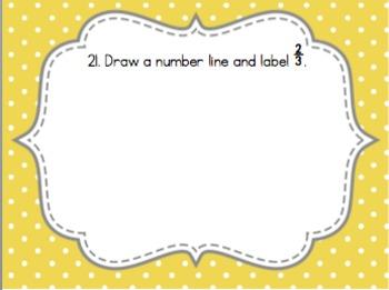 Fractions on a Number Line Task Cards {3.NF.2}