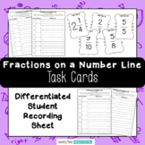 Fractions on a Number Line Task Cards - Use for Fraction S