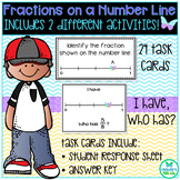 Fractions on a Number Line: Task Cards and I Have, Who Has
