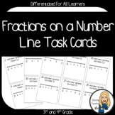 Fractions on a Number Line:  Differentiated Task Cards