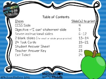 Fractions on a Number Line Test Prep and Common Core Instruction Task Cards