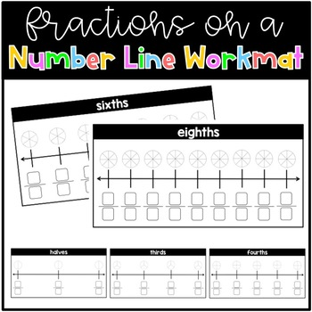 Fractions on a Number Line Workmat