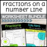 Fractions on a Number Line Worksheet Bundle