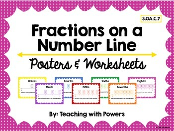 Fractions on a Number Line Posters & Worksheets