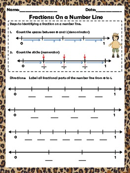fractions on a number line worksheets nf by skills and thrills  fractions on a number line worksheets nf by skills and thrills in third