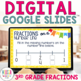 Fractions on a Number Line for Google Classroom Distance Learning