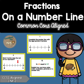Fractions on a Number Line Task Cards for Third Grade