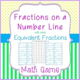 Fractions on a Number Line Game - 4 in a Row