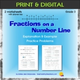 Fractions on a Number Line - worksheet - Grade 3 - CCSS