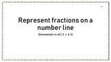 Fractions greater than one on a Number line Cut and Paste (Den. 2, 3, 4, 6, 8)