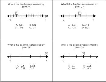 Fractions on a Numberline Task Cards
