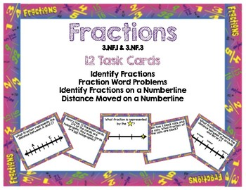 Fractions on a Numberline; Word Problems Task Cards/Scoot
