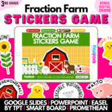 3rd Grade Fractions Math Review Game | Easel Google Slides PowerPoint Smartboard