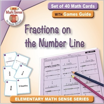 Fractions on the Number Line: 40 Math Matching Game Cards 3F13