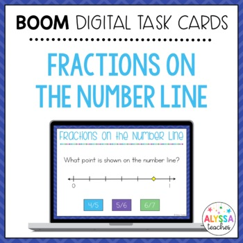 Fractions on the Number Line Boom Cards