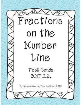 Fractions on the Number Line Task Cards