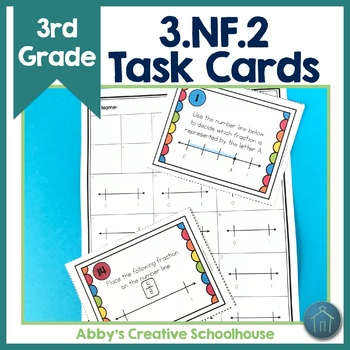 Fractions on the Number Line Task Cards 3.NF.2