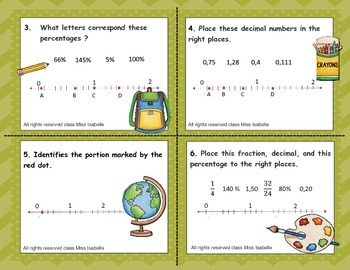 Fractions, percentages and decimal numbers