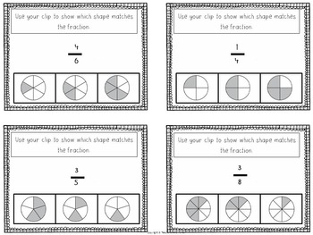 Fractions printables and slides