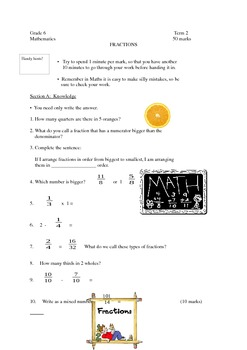 Fractions revision