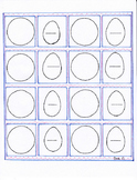 Fractions template eggs and pies first and second grade spring theme