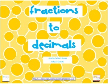Fractions to Decimals Match Up