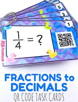 Fractions to Decimals QR Code Fun - 4.NF.6