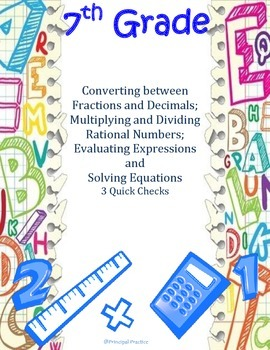 Fractions to Decimals, Rational Numbers, Solving Equations