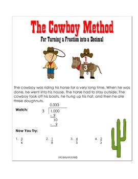 Fractions to Decimals: The Cowboy Method