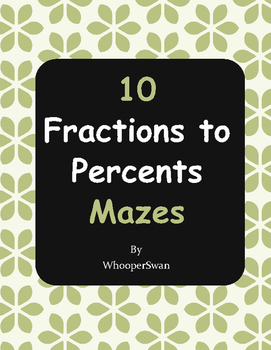 Fractions to Percents Maze
