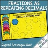 Fractions to Repeating Decimals Digital Scavenger Hunt