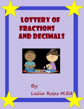 FREE Fractions to decimals Lottery