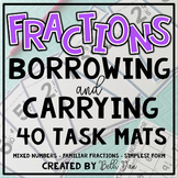 Fractions Borrowing and Carrying (Adding and Subtracting Mixed Numbers)