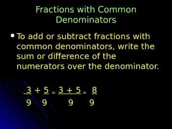 Fractions with Common Denominators