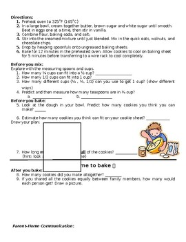 Fractions with Cookies - Interactive HW [English & ESPANOL]