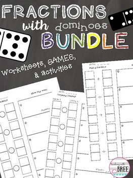 Fractions with Dominoes BUNDLE