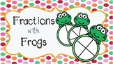 Fractions with Frogs Wipe and Write and Worksheet