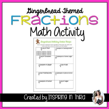 Fractions Gingerbread Holiday Cookie Recipe