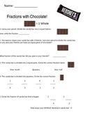 Fractions with Hershey Candy Bar Quiz