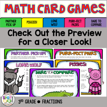 Fractions with Models: Math Card Games