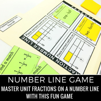 Fractions on a Number Line Games and Activities