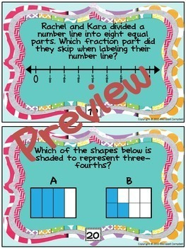 Fractions on a Number Line and More Task Cards