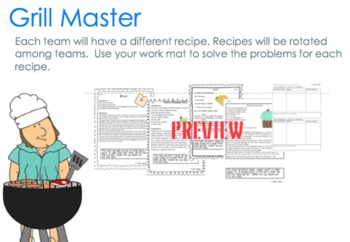 Fractions with Recipes 4.NF.4 SmartBoard