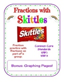 Fractions with Skittles - Common Core 3.NF.1 and 3.NF.3