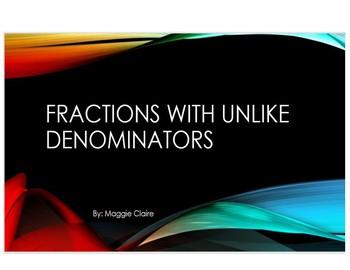 Fractions with Unlike Denominators Bundle