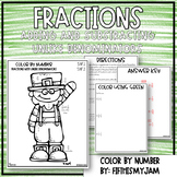 Fractions with Unlike Denominators Color By Number 5.NF.1 and 2