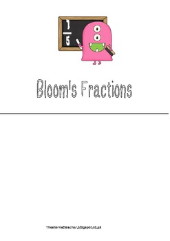 Fractions work blooms themed