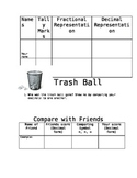 Fractions/Decimals Trash Ball Game
