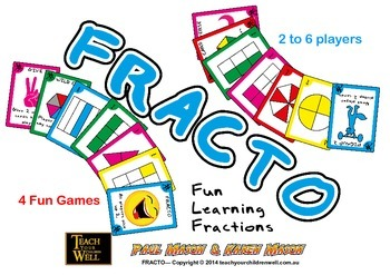 Fracto - Fraction Card Game - 192 playing cards